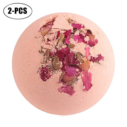 Top Justdolife 2PCS Skin Bath Ball Skin Care Moisturizing Exfoliating Natural Essential Bath Salt Ball free shipping