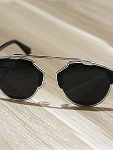 New Style Star Style Semi Frame Colored Lens Design Sunglasses 5839520J08A940AE04U Color Silver