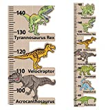StickersMagic   Dinosaur Height Chart Wall Sticker, Kids Room Children Nursery Growth Measuring Ruler, 100% REMOVABLE Decal, Perfect Present Birthday Gift for 5 6 7 8 Year Old Boys