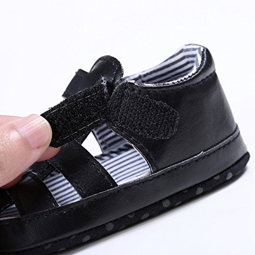 Sandalias De Bebe,BOBORA Prewalker Zapatos Primeros Pasos Para Bebe Hueco Suave Sandalias Casuales negro