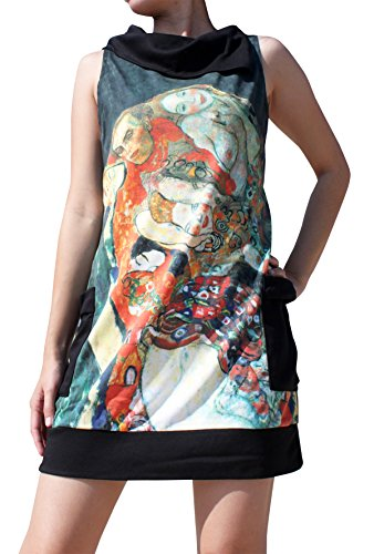 Raan Pah Muang Gustav Klimt The Bride Collar Fold Dress, Large