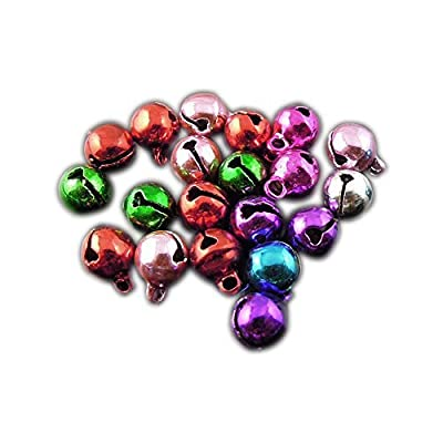 240Pcs 6mm Assorted Color Mixed Brass Jingle Bell Charms