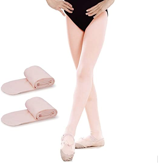 Girls Ballet Tights Plain Soft Back to School 70 Denier Opaque footed tight 8 Colours Age 3-14 Years
