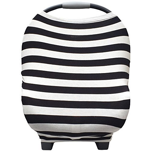 Nursing Breastfeeding Cover and Baby Car Seat Cover Canopy Multi-Use 5 in 1
