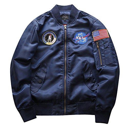 Cappotti Jacket Maniche Uomo Militare Volo Sciolto Sportivo Giubbotto Lunghe Casuale Flight Giacca Marina Bomber wUTaP