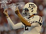 Johnny Manziel Autographed Texas AM 16x20 Money Sign Photo W/ Rolled the Tide- JSA W Auth