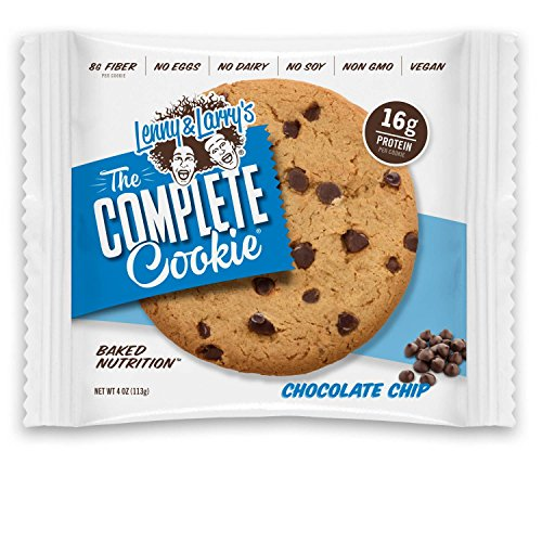 Lenny & Larry's The Complete Cookie, Chocolate Chip, 4-Ounce Cookies (Pack of 12)