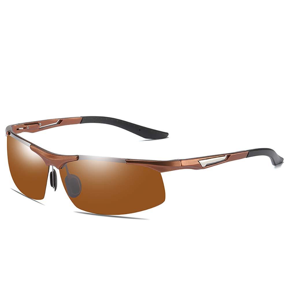 A Men's Polarized Sunglasses, Aluminum and Magnesium Sports Sunglasses, ExplosionProof, AntiUV, Polarized Driving Sunglasses