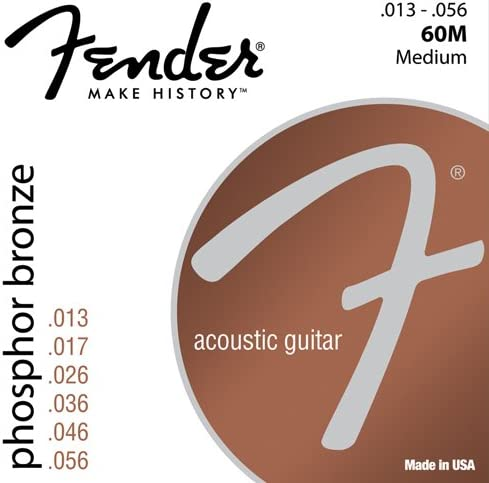 Fender 60L 0730060408 Acoustic Guitar Phosphor Bronze Ball End Strings