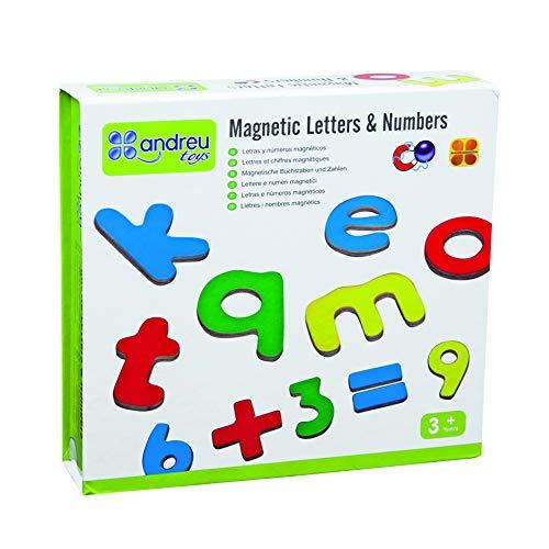 Andreu Toys Letras y números magnéticos: Amazon.es: Juguetes ...