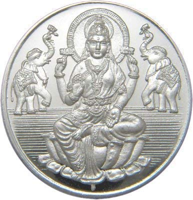 Caratcafe Goddess Lakshmi Silver Coin 10 Gram 999