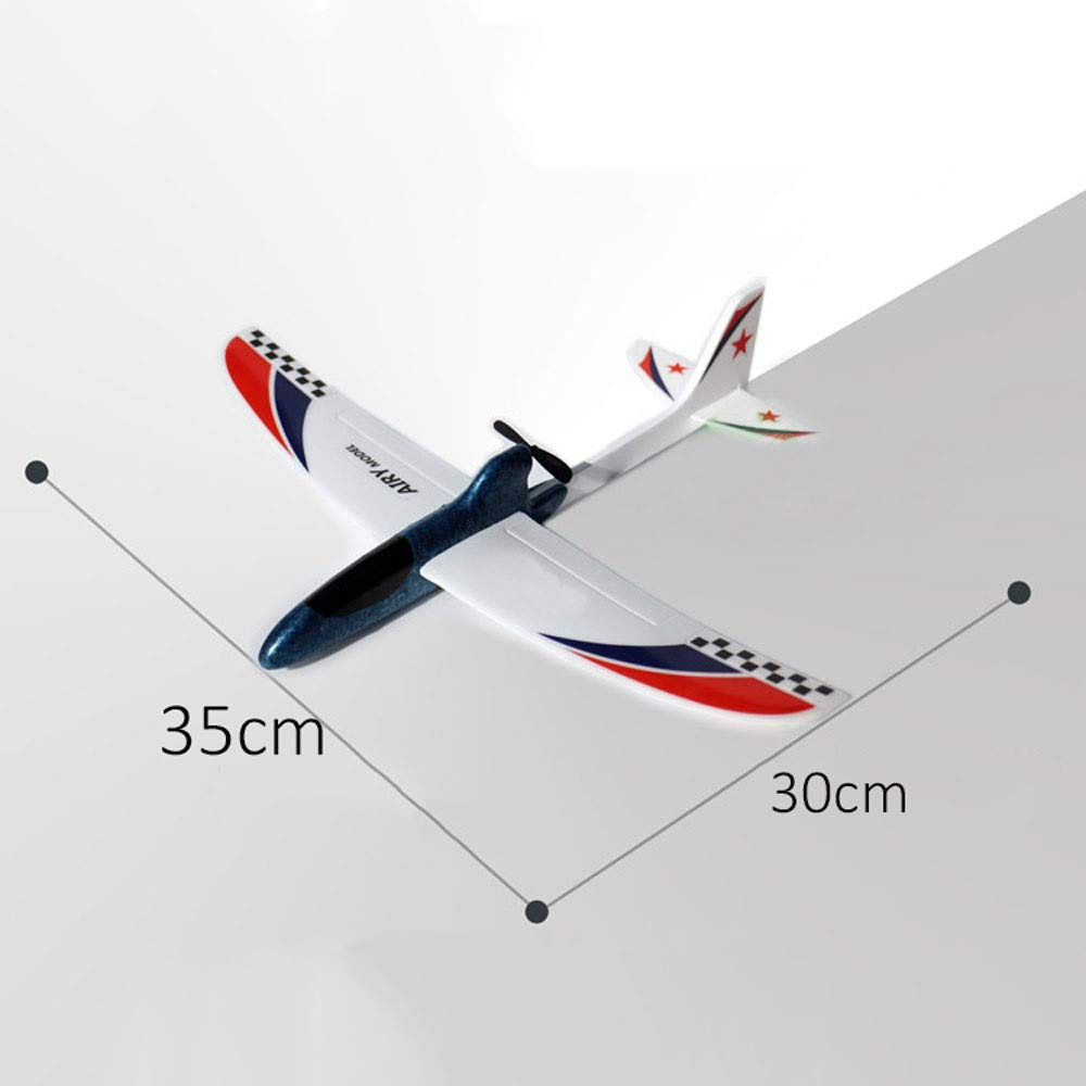 Ycco Foam Throwing Glider Airplane, GreatestPAK Hand Launch Inertia Plane Model Toy Gift for Children Home Decoration Collection Flight Mode Outdoor Sports Flying (Color : Red) by Ycco (Image #4)