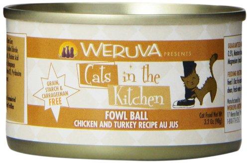 Weruva Cats in the Kitchen, Fowl Ball with Chicken & Turkey