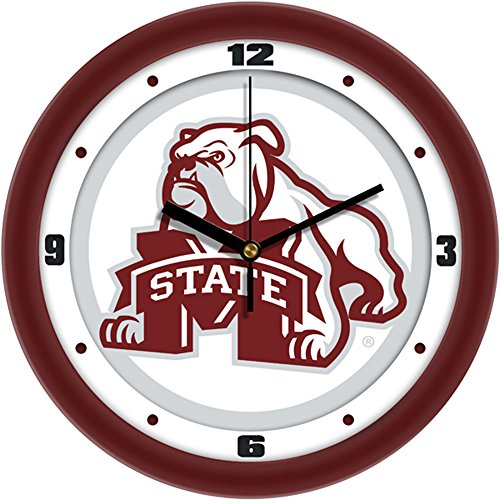 Mississippi State Bulldogs NCAA 12In Collegiate Wall Clock (Mississippi State Bulldogs Clocks)