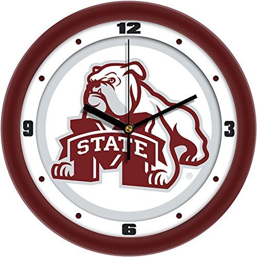 Mississippi State Bulldogs NCAA 12In Collegiate Wall Clock (Mississippi State Bulldogs Clocks)
