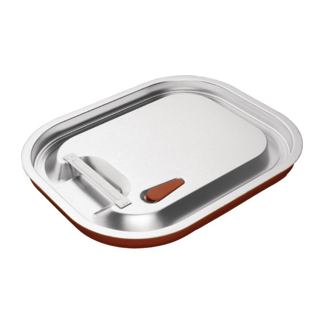 Vogue CP269 Stainless Steel and Silicone Sealable GN Lid 1//2