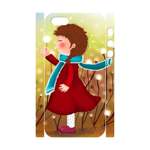 SYYCH Phone case Of Girl and Dandelion Cover Case For iPhone 5,5S
