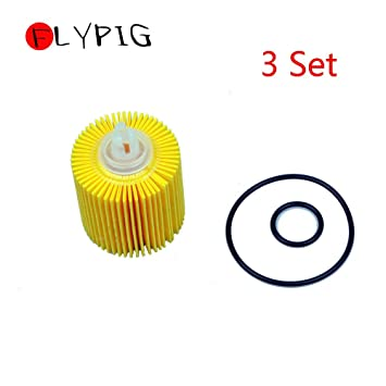 Amazon.com: LySanSan - Juego de 3 filtros de aceite motor de ...