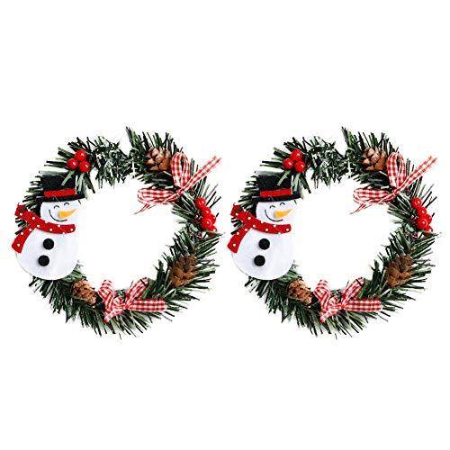 (Monbedos 2Pcs Multicolor Flower Headband Christmas Head Wreath Christmas Snowman/Old Man/Bear/Elk/Ornament for Wedding Festivals Party Colorful B)