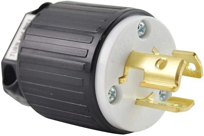 Superior Electric YGA027 Twist Lock Electrical Plug 3P 15A 250V NEMA L6-15P