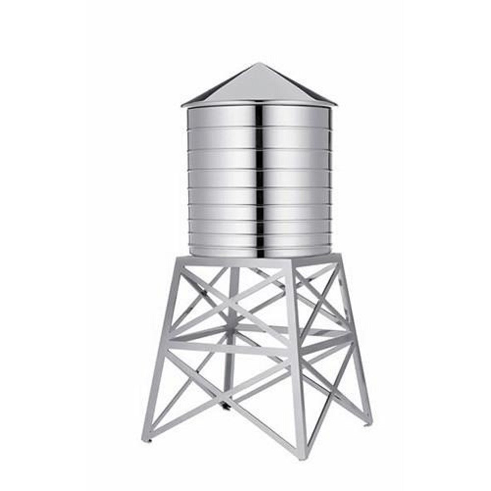 Alessi Water Tower Kitchen Container in Stainless Steel, Mirror Polished 10.75'' by Alessi