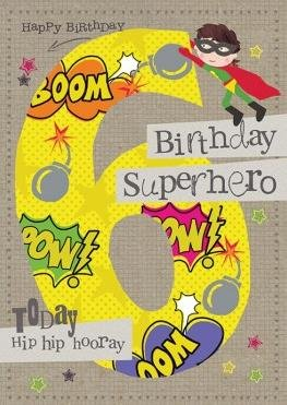 Tarjeta de felicitación (hg5280) en blanco/cumpleaños - 6th ...