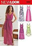 Simplicity New Look Pattern 6282 Misses Dress in Two Lengths with Hem Variations Sizes 4-6-8-10-12-14-16
