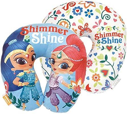 ARDITEX SS12551 Cojín para el Cuello de 33x33x6cm de Nickelodeon-Shimmer & Shine