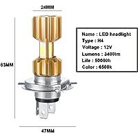 Cikuso Linterna Electrica Amarillo 3 LED Prensa Manual No Bateria para Campamento Exterior
