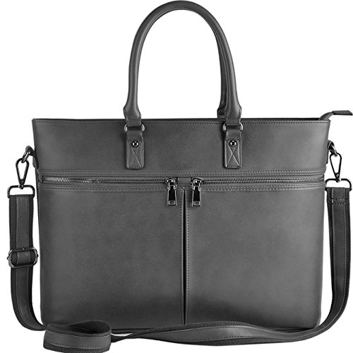Fashionable Laptop Bags - Laptop Bag for Women,Business Laptop Tote Up to 15.6 Inch,Separate Interior Protective Layer for Laptop [L0015/gray]