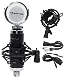 Package: Rockville RCM03 Pro Studio Recording Condenser Microphone Mic With High Quality Metal Construction and Shock Mount + Rockville RMF1 Studio Microphone Isolation Shield w/ Sound Dampening Foam