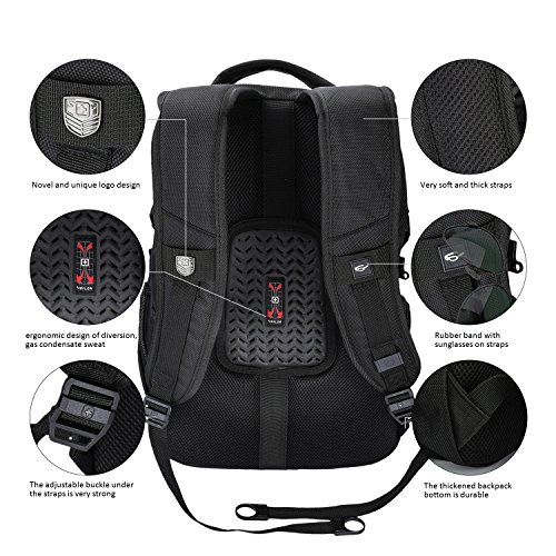 Suissewin big business travel outdoor mountain climbing computer backpack(SW9275I) (Black) by Swisswin (Image #6)