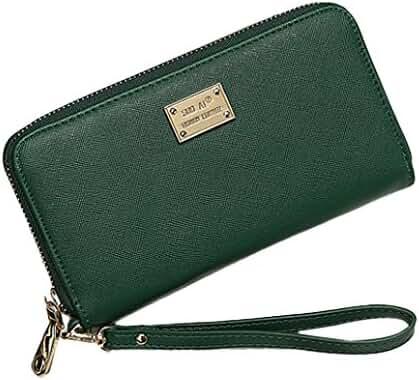 Lady Clutch Wallet,Hemlock Women Rectangle Zipper Purse Bag Card Bags (Green)
