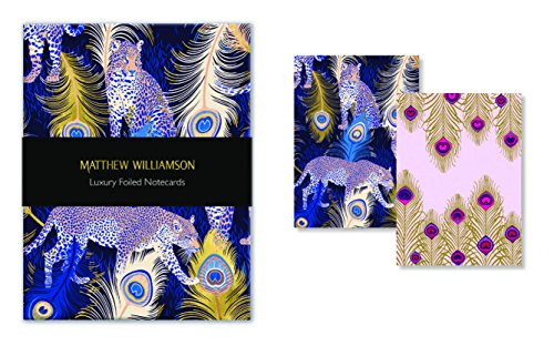 (Museums & Galleries (MUT38) Matthew Williamson Feather Prints Luxury Foiled Notecards)