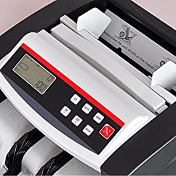 Pyle Digital Bill Counter | Automatic Banknote Cash Money Counting Machine | Counterfeit Detection (PRMC150)