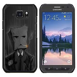 EJOOY---Cubierta de la caja de protección para la piel dura ** Samsung Galaxy S6Active Active G890A ** --Fumar Bolsa de papel Hombre
