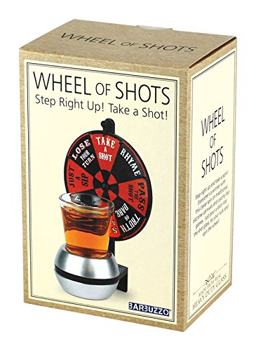 Wheel of Shots - The Drinking Game Where Everybody Wins - Spin The Wheel to Choose Your Fate - A Perfect Party Game You Can Bring Anywhere (Bartender Game Best Drink)