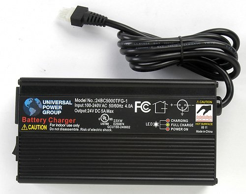 24V 5A Battery Charger for Hoveround / Lakematic ()