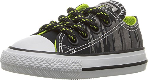 Converse Chuck Taylor All Star Ox Black/Bold Lime (Toddler) (5 Toddler M) by Converse