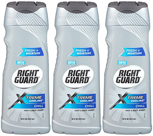 Guard Gel - Right Guard Xtreme Cooling Hair and Body Wash, Chill, 16 Oz (Pack of 3)