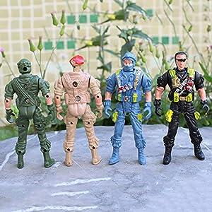 Verlike 9cm Mini Kids Plastic Military Soldier Model Army Men Figure Toy Random Style