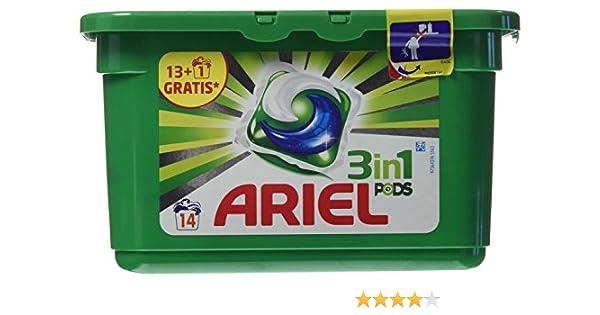 Ariel Detergente 3 en 1 - 14 Cápsulas: Amazon.es: Belleza