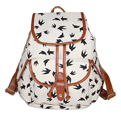 Sac de à camping Sac sac sac de Toile dos Cartable Blanc Femmes Molly pour qUCwAZg