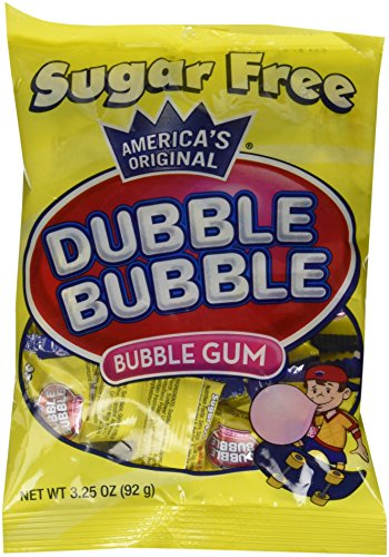 Dubble Bubble Sugar Free, 3.25-Ounce Bags (Pack of -