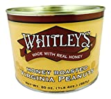 Whitley's Honey Roasted Virginia Peanuts - 20 Oz. Tin