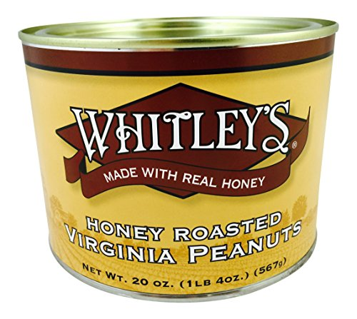Whitley's Honey Roasted Virginia Peanuts - 20 Oz. Tin (Extra Large Peanuts Tin)