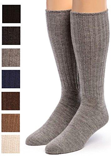 Warrior Alpaca Socks - Womens Ribbed Casual Everyday Alpaca Wool Crew Socks