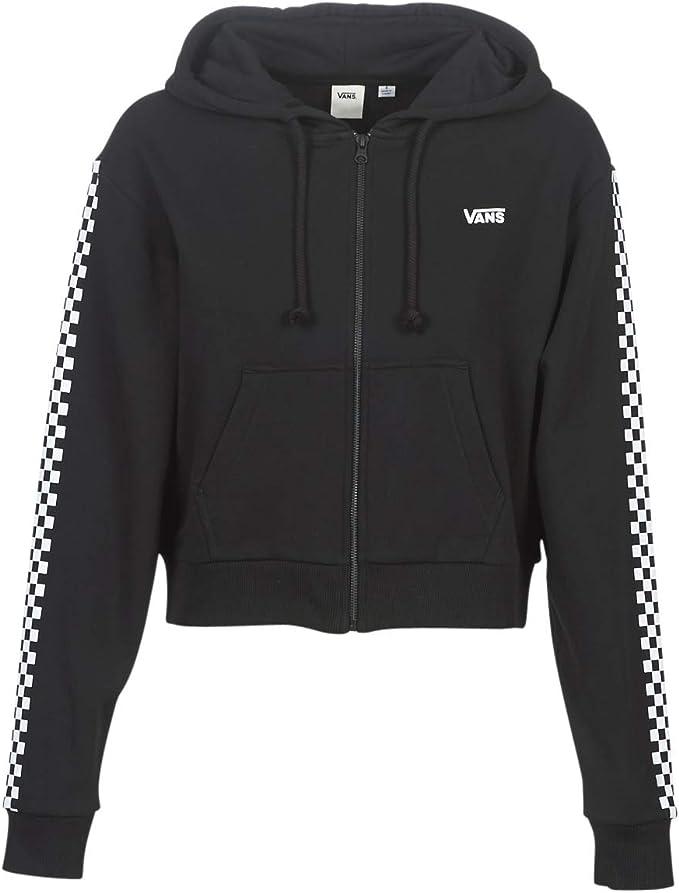 Vans Funnier Times Crop Zip Hoodie Sweatshirts und Fleecejacken Damen Negro Sweatshirts
