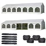 DELTA Canopies 46'x26' PVC Party Tent - Heavy Duty Wedding Canopy Gazebo Carport - with Storage Bags