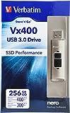 Verbatim 256GB Store 'n' Go Vx400 USB 3.0 Flash Drive, Silver 47691